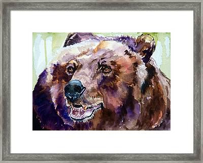 This Is Me Smiling Framed Print by P Maure Bausch