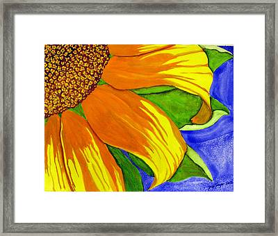 This Is No Subdued Sunflower Framed Print