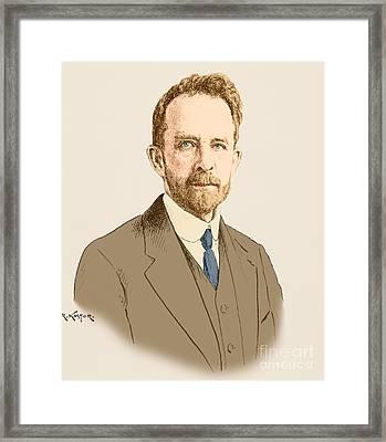 Thomas Hunt Morgan, American Geneticist Framed Print by Science Source