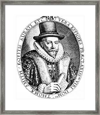 Thomas Smythe, English Merchant Framed Print by Photo Researchers