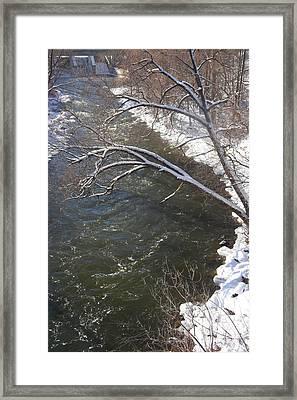 Thornbury Frozen Fish Lock Framed Print by Cyryn Fyrcyd