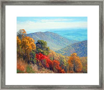 Thornton Gap Framed Print