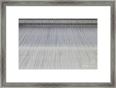 Threads In An Industrial Loom Framed Print by Magomed Magomedagaev