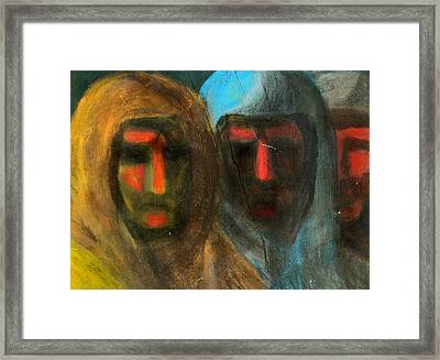 Three Figures Framed Print by Chester