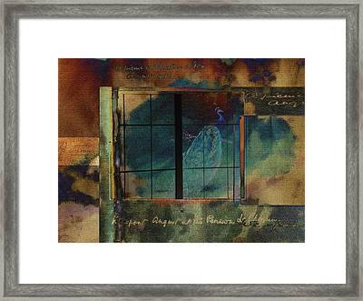 Through A Glass Darkly Framed Print by Sarah Vernon