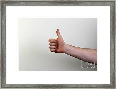 Thumbs Framed Print by Photo Researchers, Inc.