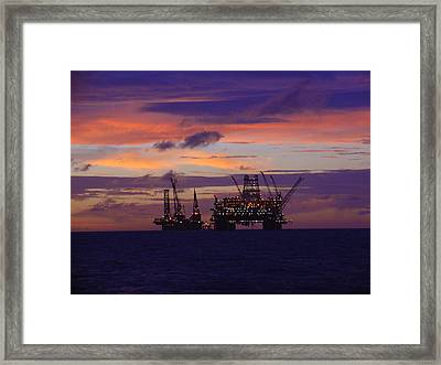 Framed Print featuring the photograph Thunder Horse Before The Storm by Charles and Melisa Morrison