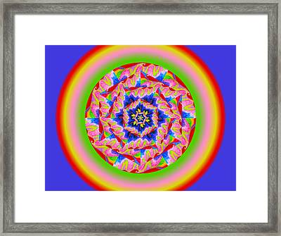 Tidal Wave Framed Print by Linda Pope