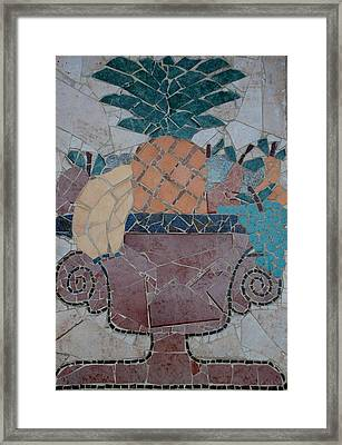 Tiled Fruit Framed Print