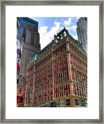 Times Square Framed Print by Joe Paniccia
