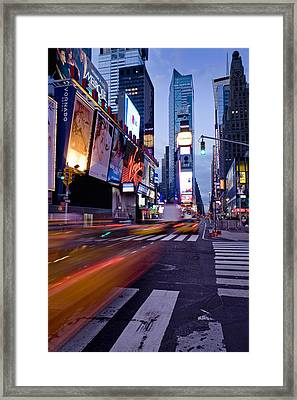 Times Square, Theatre District, Manhattan, New York, Usa Framed Print by Ben Pipe Photography