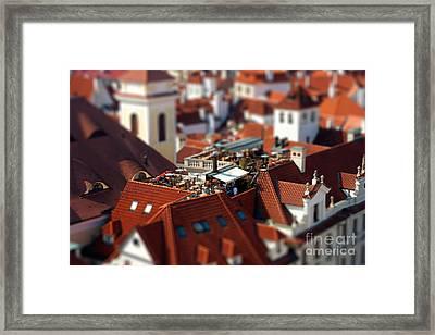 Tiny Roof Restaurant Framed Print by Joerg Lingnau