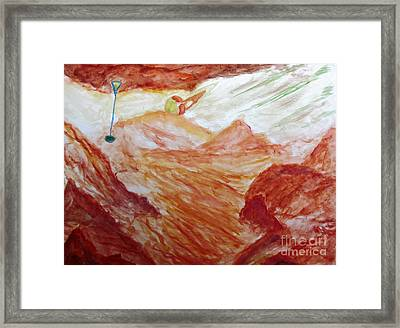 Titan Moon Of Saturn Framed Print