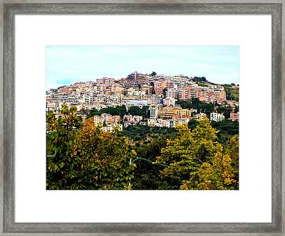 Tivili Italy Framed Print by Mindy Newman