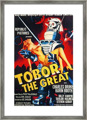 Tobor The Great, 1954 Framed Print by Everett