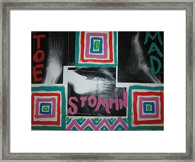 Toe Stompin Mad Framed Print