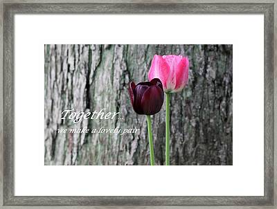 Together Framed Print by Deborah  Crew-Johnson