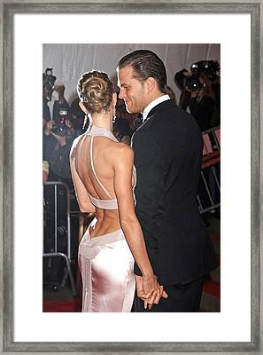 Tom Brady Wearing A Tom Ford Suit Framed Print by Everett
