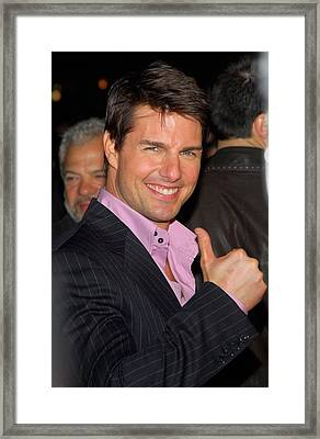 Tom Cruise At Arrivals For Mission Framed Print by Everett