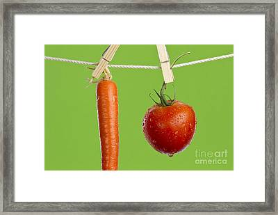 Tomato And Carrot Framed Print by Blink Images