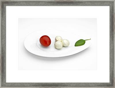 Tomato Mozzarella Framed Print