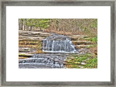 Top Of The Upper Falls Framed Print by Shirley Tinkham