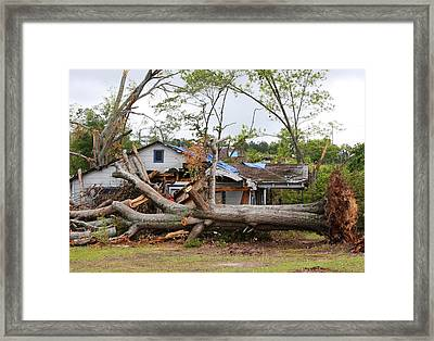 Tornado Aftermath In La Grange Georgia Framed Print