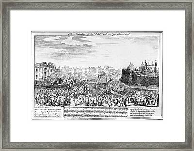 Tower Of London: Execution Framed Print by Granger