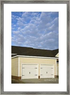 Townhouse Garages Framed Print