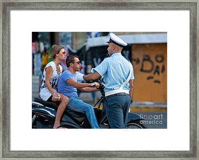 Traffic Cop Framed Print by Andrew  Michael