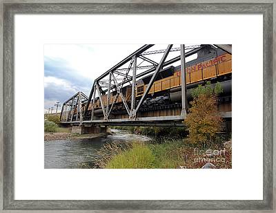 Train Over Troubled Water  Framed Print