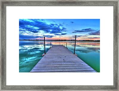 Tranquil Dock Framed Print by Scott Mahon