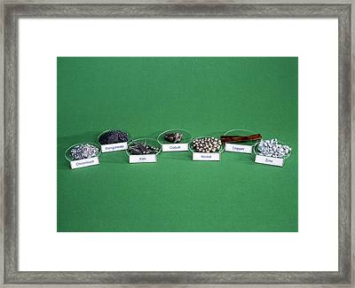 Transition Metals Framed Print by Andrew Lambert Photography