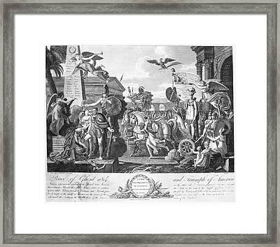 Treaty Of Ghent, 1814 Framed Print by Granger
