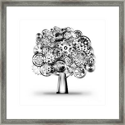 Tree Of Industrial Framed Print