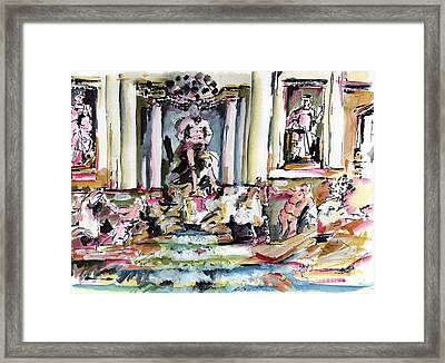 Trevi Fountain Rome Italy  Framed Print by Ginette Callaway