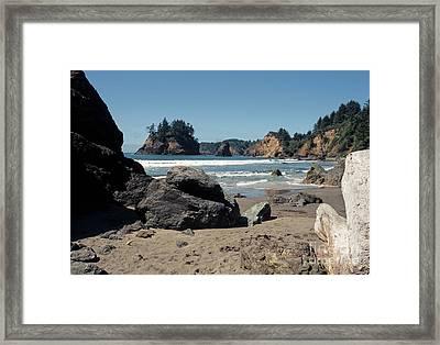 Trinidad Beach Framed Print by Sharon Elliott