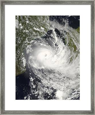 Tropical Cyclone Jokwe Framed Print by Stocktrek Images