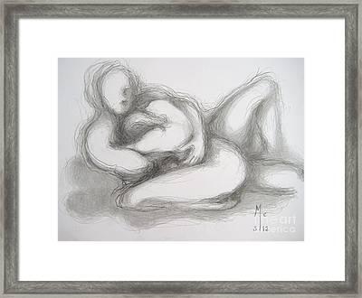 True Despair And A Golden Heart Framed Print