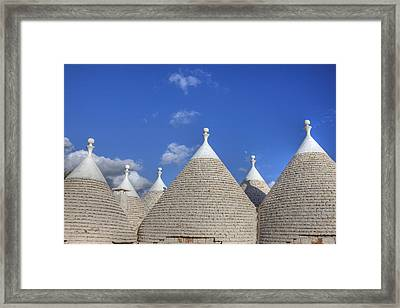 Trulli Of Apulia Framed Print by Joana Kruse