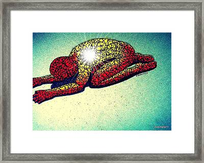 Trying Expelling The Spirit Of Beings And Things Framed Print by Paulo Zerbato
