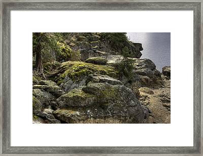 Tubbs Hill On Lake Cd'a Framed Print by Grover Woessner
