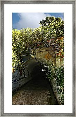 Tunnel At Crystal Cove Framed Print by Ron Regalado
