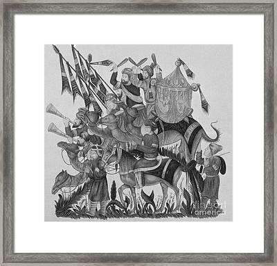 Turkish Muslims, The Crusades Framed Print