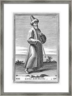 Turkish Trumpet, 1723 Framed Print by Granger