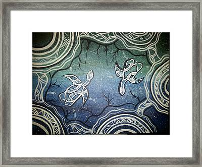 Turtles Framed Print by Karlie Stewart