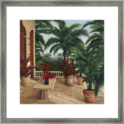 Tuscan Patio Framed Print