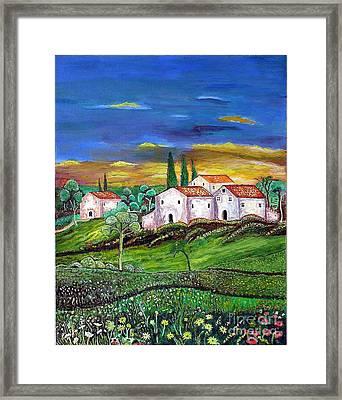 Tuscany Framed Print by Kostas Dendrinos