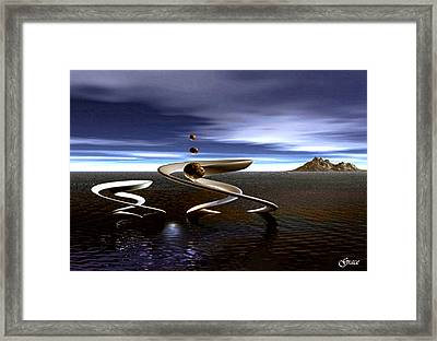 Twin Concepts In Balance Framed Print by Julie Grace