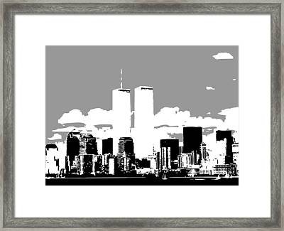Twin Towers Bw3 Framed Print by Scott Kelley